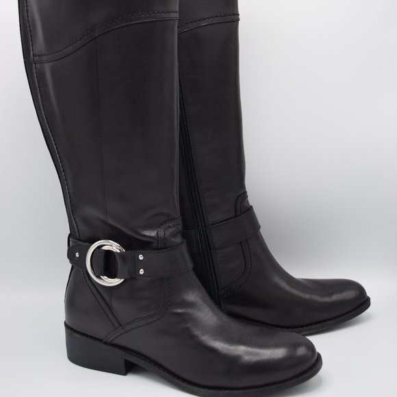 Wide Calf Leather Riding Boots Gatway